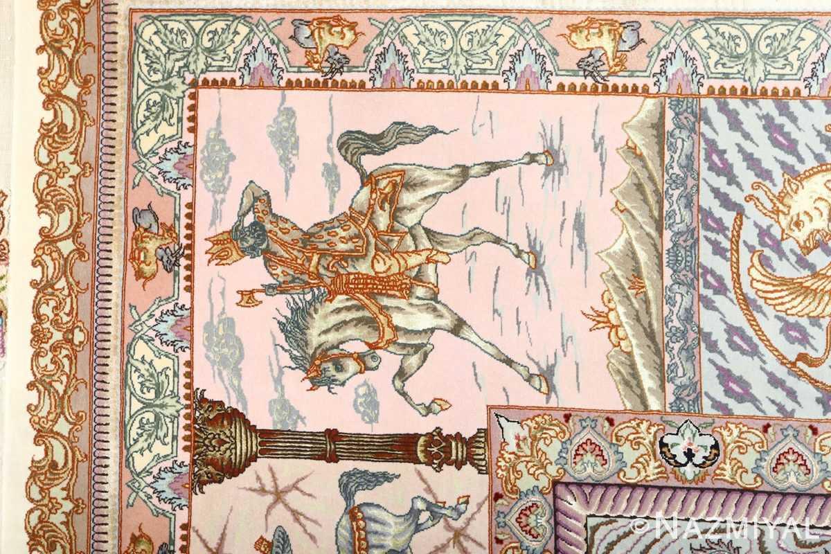 fine pictorial vintage tabriz persian rug 51070 soldier Nazmiyal
