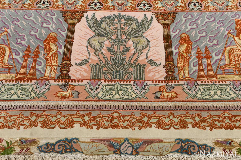 fine pictorial vintage tabriz persian rug 51070 unicorn Nazmiyal