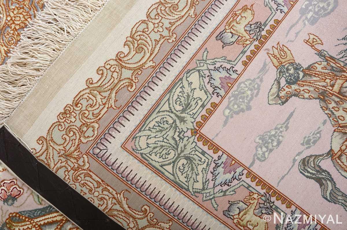 fine pictorial vintage tabriz persian rug 51070 weave