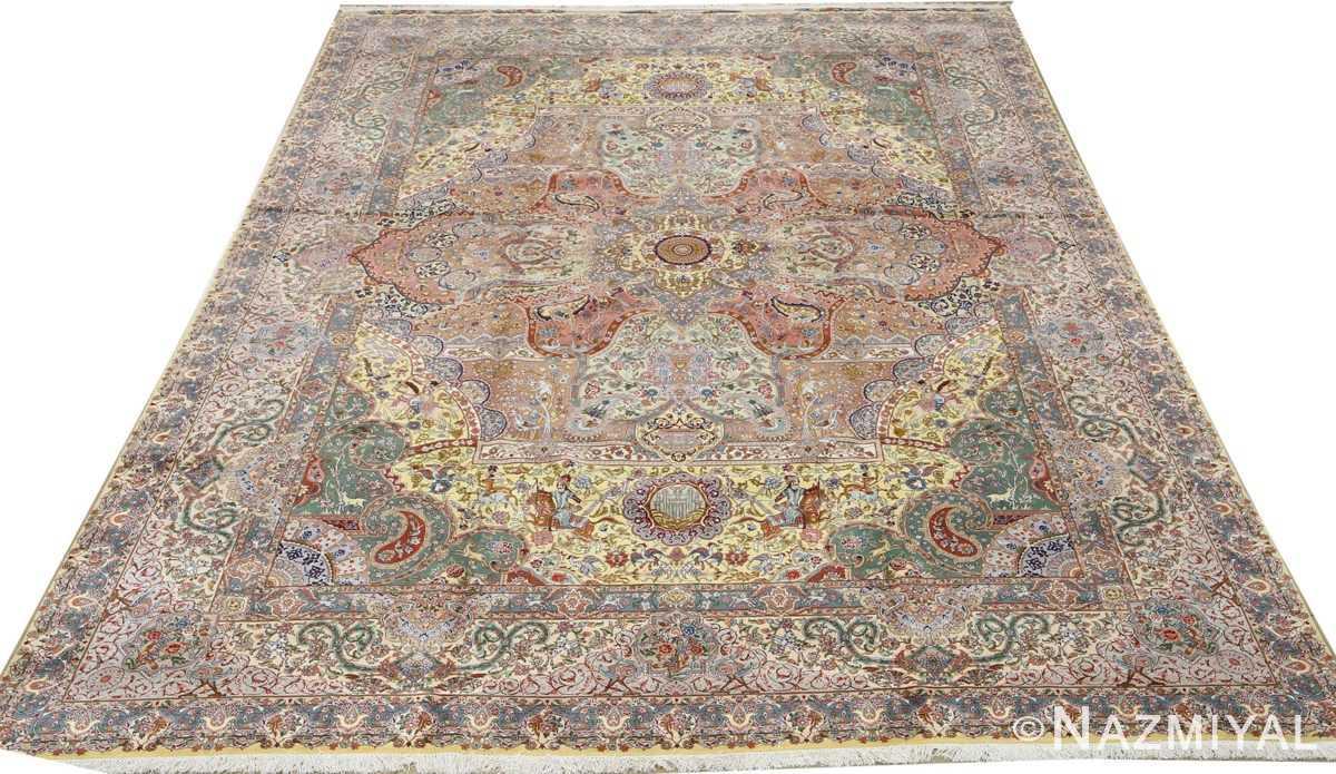 fine pictorial vintage tabriz persian rug 51074 full Nazmiyal