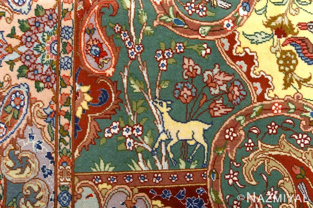 fine pictorial vintage tabriz persian rug 51074 gazal Nazmiyal