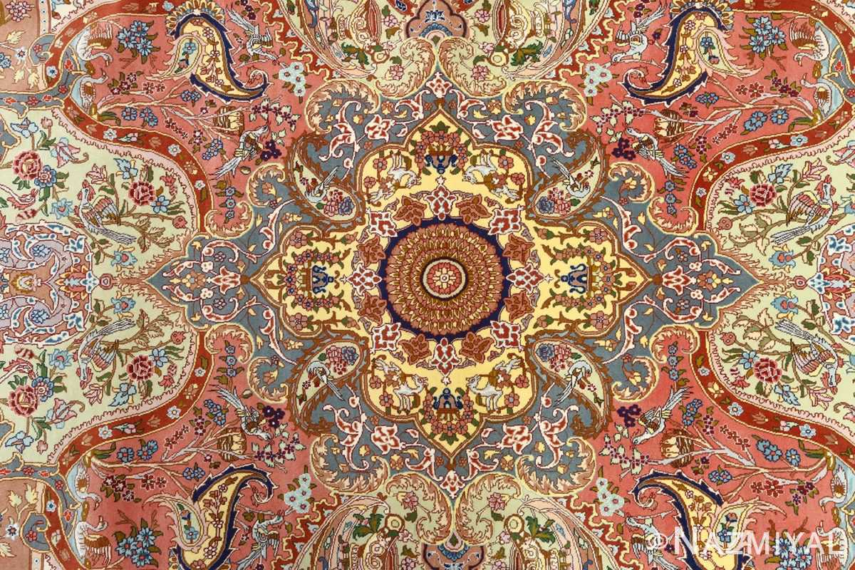 fine pictorial vintage tabriz persian rug 51074 corner Nazmiyal