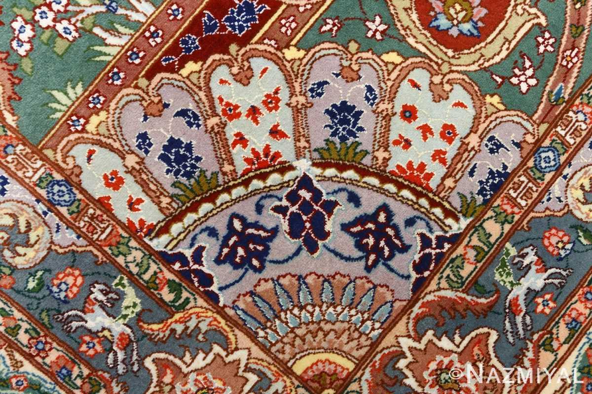 fine pictorial vintage tabriz persian rug 51074 pattern Nazmiyal