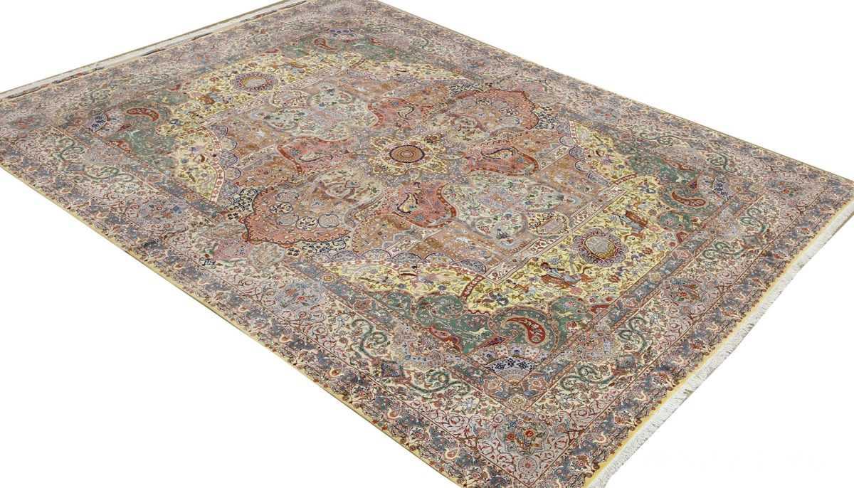 fine pictorial vintage tabriz persian rug 51074 side Nazmiyal