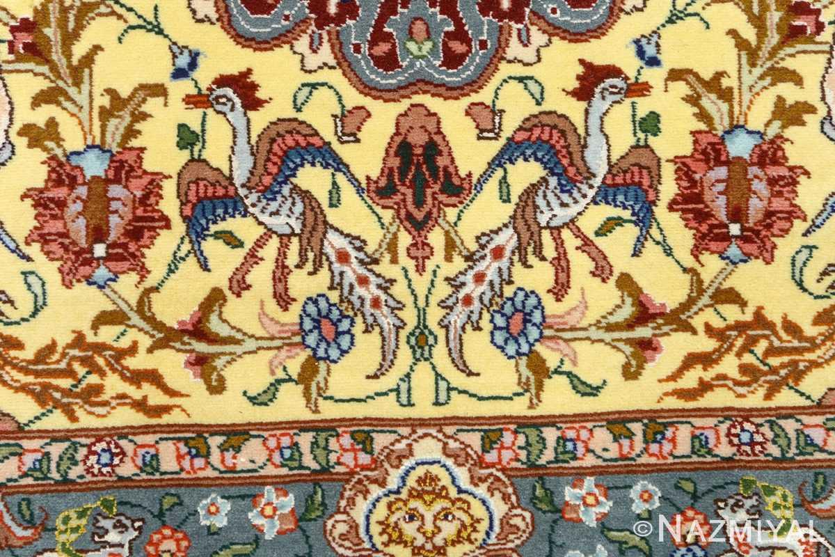 fine pictorial vintage tabriz persian rug 51074 simorgh Nazmiyal
