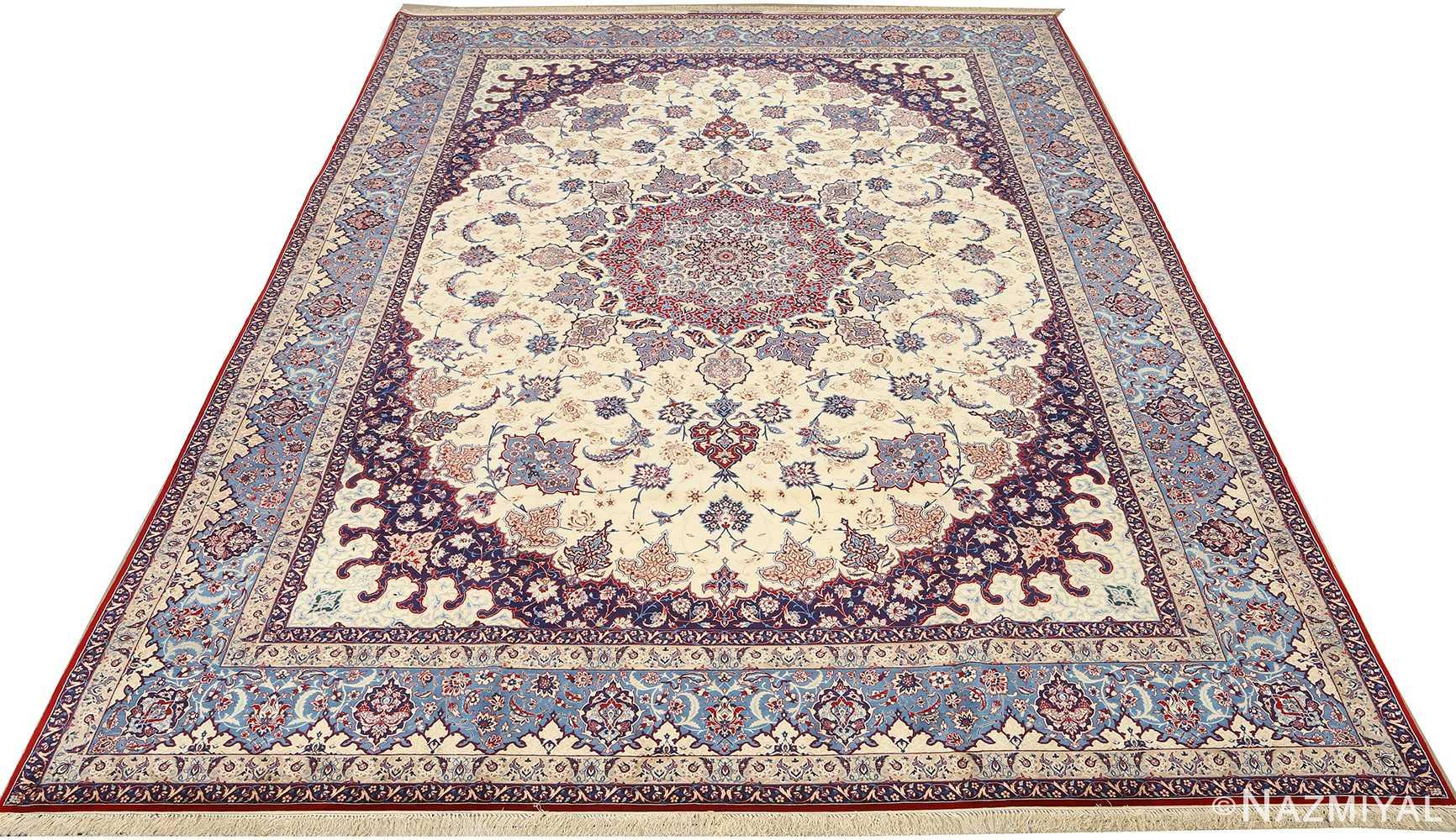fine seyrafian vintage isfahan persian rug 51079 full Nazmiyal