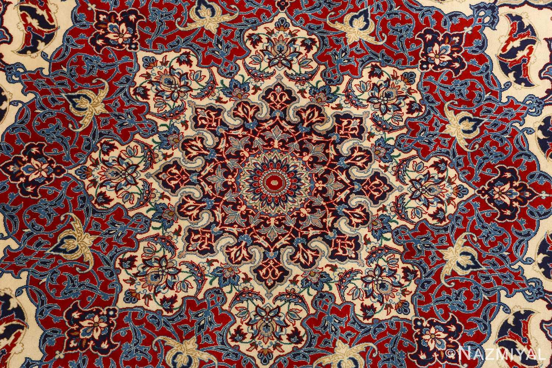 fine seyrafian vintage isfahan persian rug 51079 medallion Nazmiyal