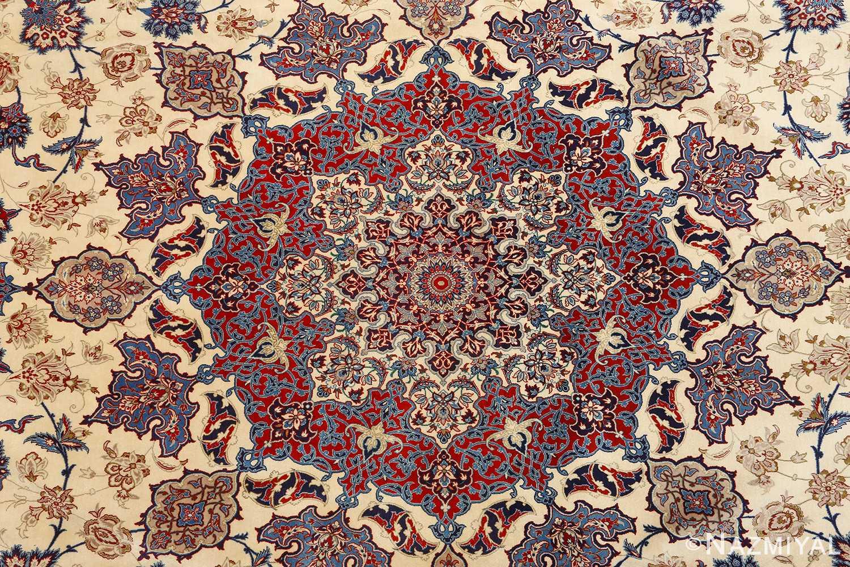 fine seyrafian vintage isfahan persian rug 51079 middle Nazmiyal