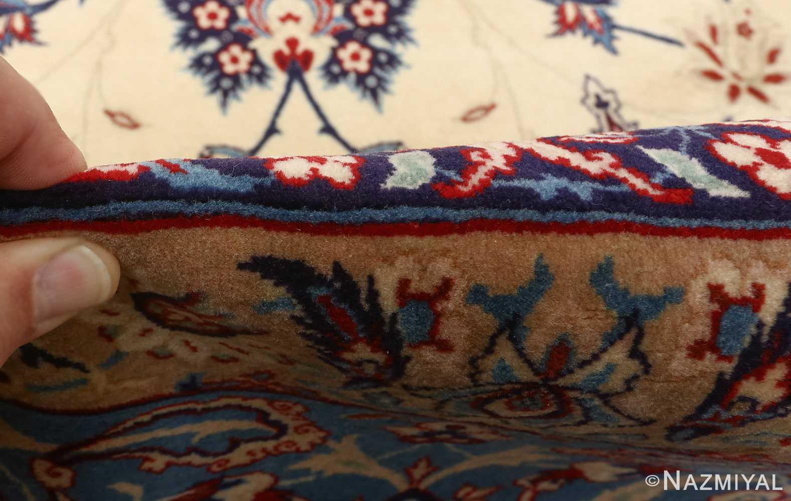 fine seyrafian vintage isfahan persian rug 51079 pile Nazmiyal