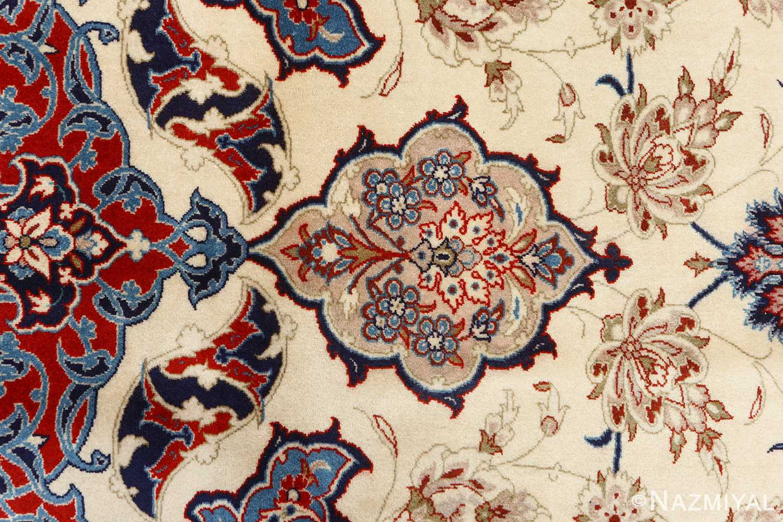fine seyrafian vintage isfahan persian rug 51079 top Nazmiyal