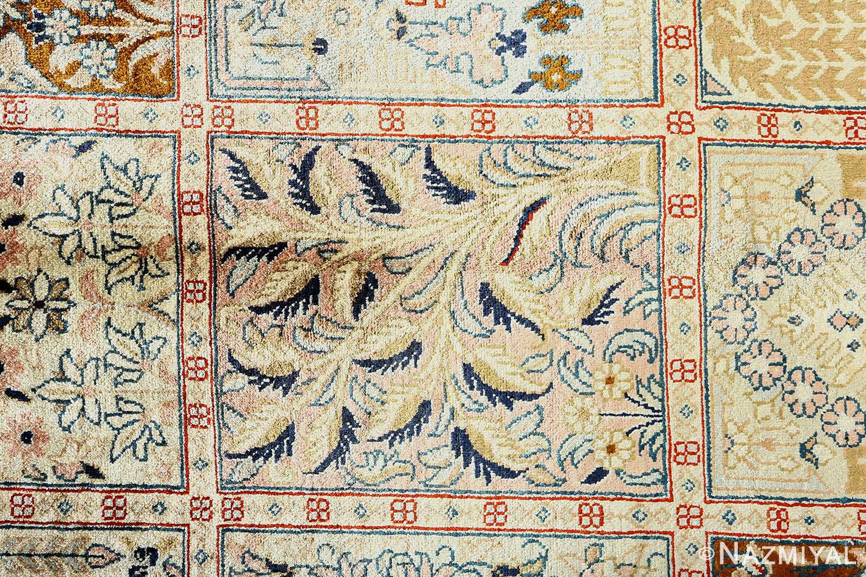 fine square garden design silk qum persian rug 51084 tree Nazmiyal