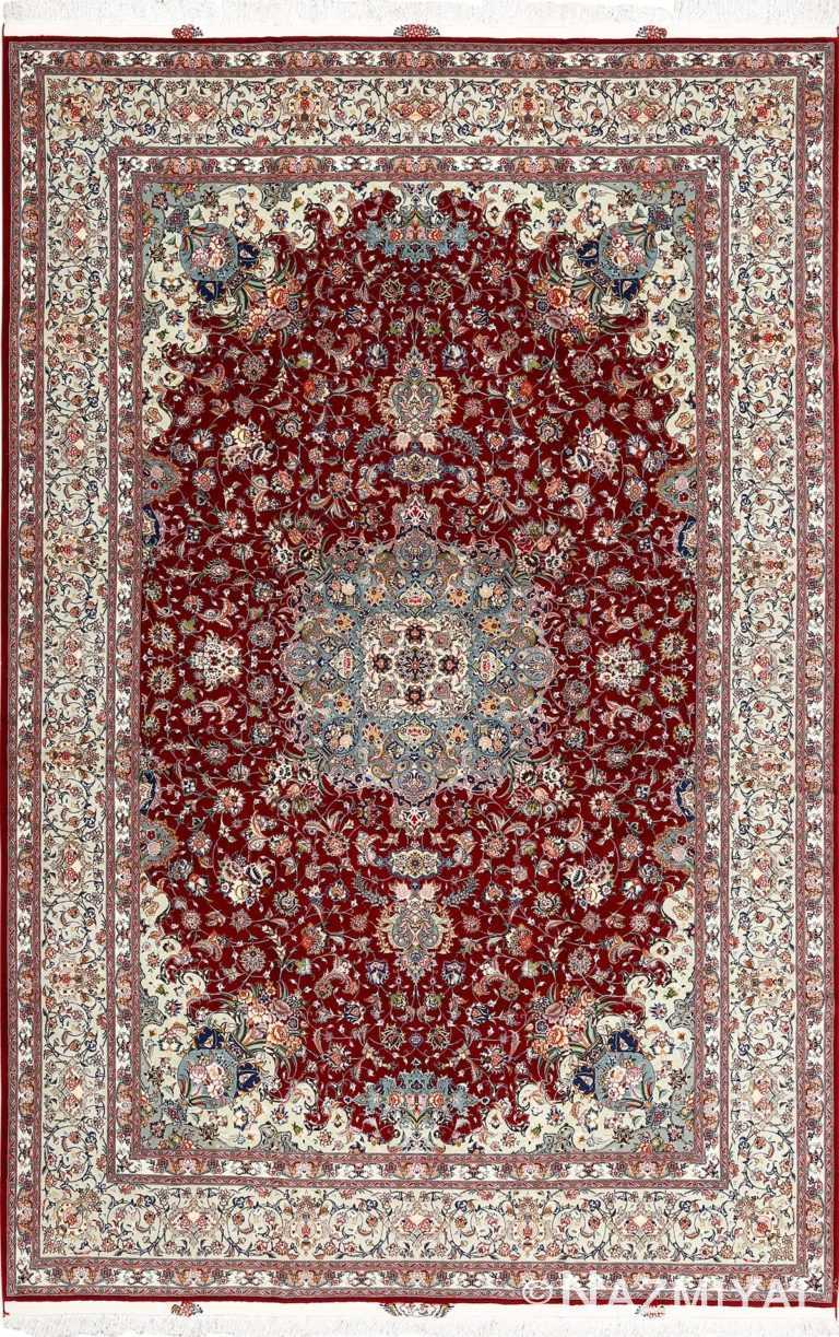 fine vintage floral tabriz persian rug 51106 Nazmiyal