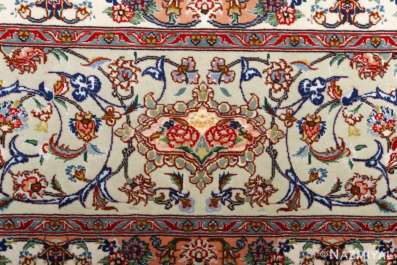 fine vintage floral tabriz persian rug 51106 border Nazmiyal