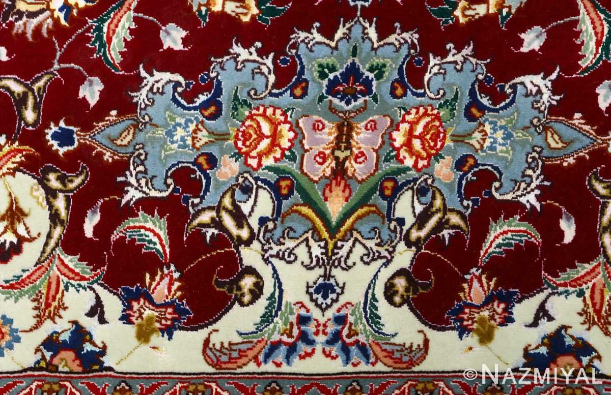 fine vintage floral tabriz persian rug 51106 butterfly Nazmiyal