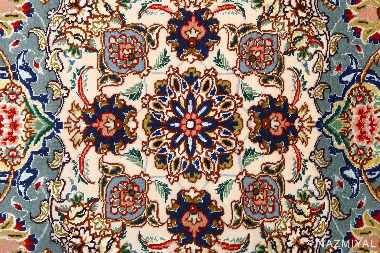 fine vintage floral tabriz persian rug 51106 center Nazmiyal