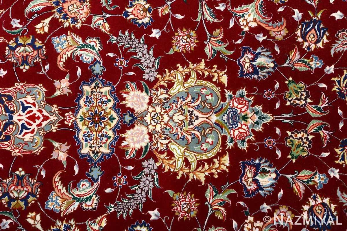 fine vintage floral tabriz persian rug 51106 field Nazmiyal