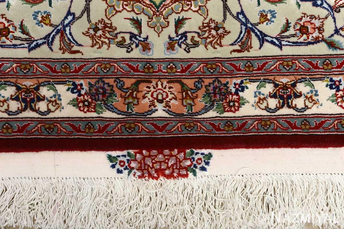 fine vintage floral tabriz persian rug 51106 fringes Nazmiyal