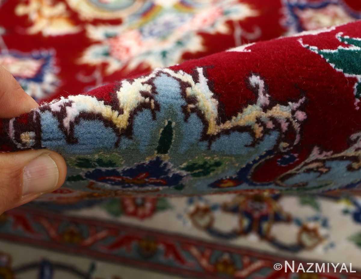 fine vintage floral tabriz persian rug 51106 pile Nazmiyal