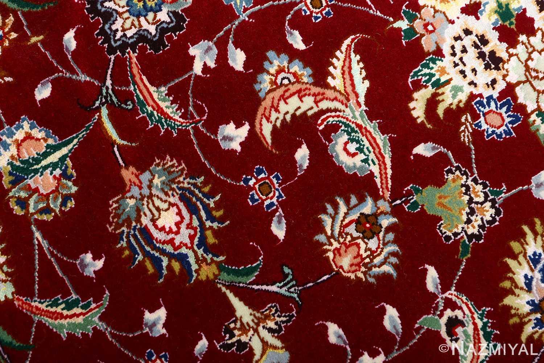 fine vintage floral tabriz persian rug 51106 scrolls Nazmiyal