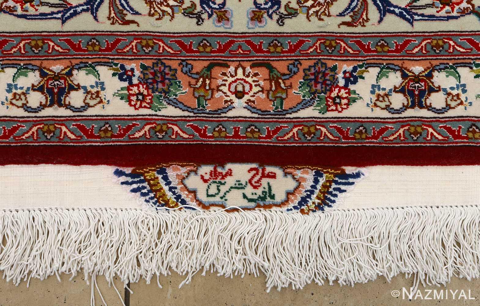 fine vintage floral tabriz persian rug 51106 corner Nazmiyal