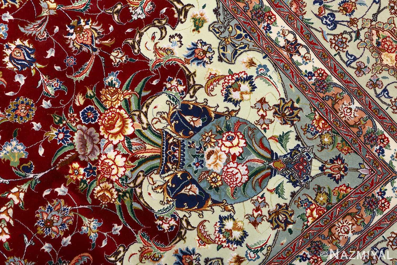 fine vintage floral tabriz persian rug 51106 vase Nazmiyal