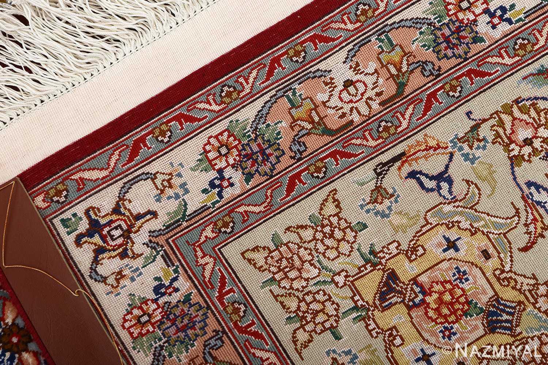 fine vintage floral tabriz persian rug 51106 weave Nazmiyal