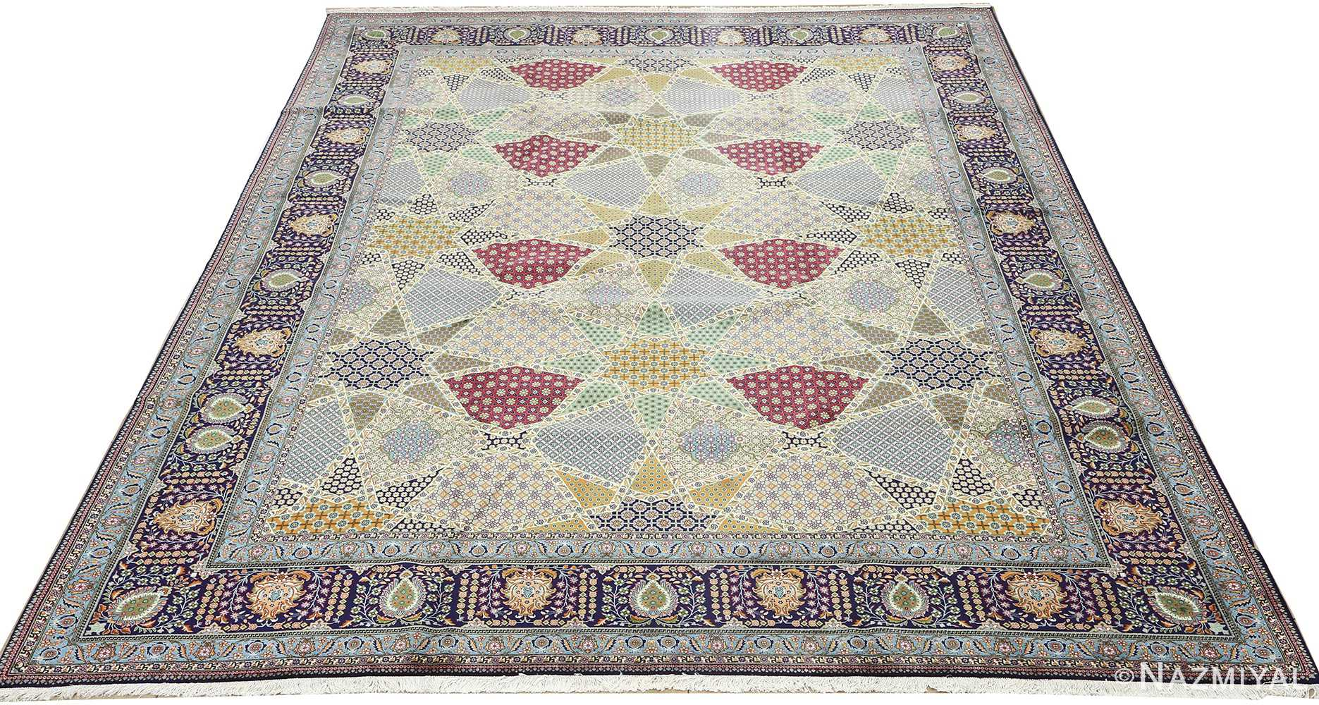 fine vintage tabriz persian rug 51077 full Nazmiyal