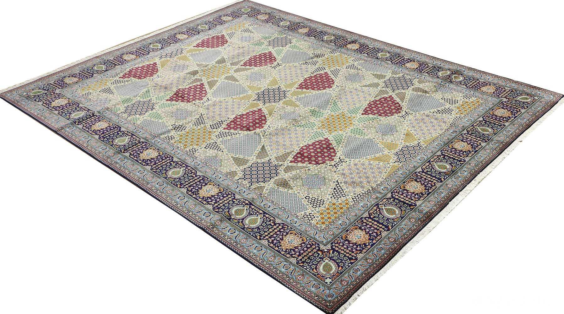 fine vintage tabriz persian rug 51077 side Nazmiyal