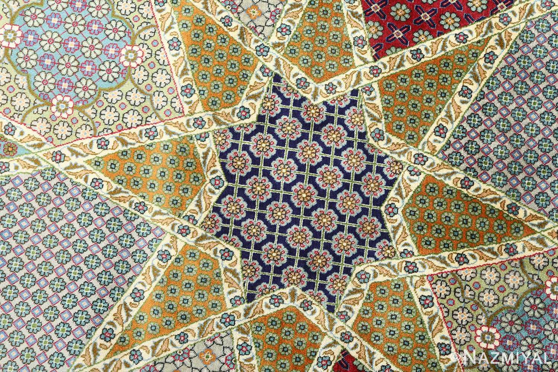 fine vintage tabriz persian rug 51077 star Nazmiyal