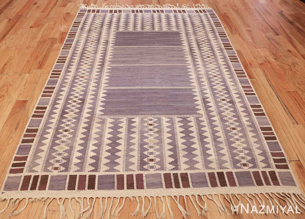 geometric vintage scandinavian swedish kilim by marta maas 49268 full Nazmiyal
