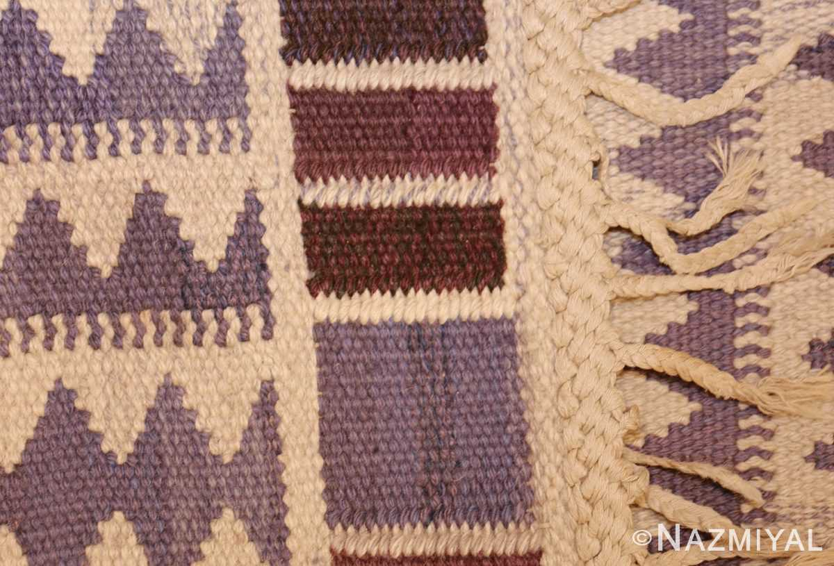 geometric vintage scandinavian swedish kilim by marta maas 49268 weave Nazmiyal