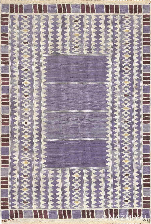 geometric vintage scandinavian swedish kilim by marta maas 49268 Nazmiyal