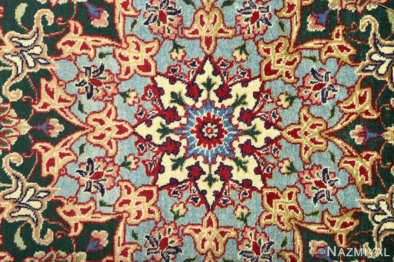 green background vintage tabriz persian rug 51109 center Nazmiyal
