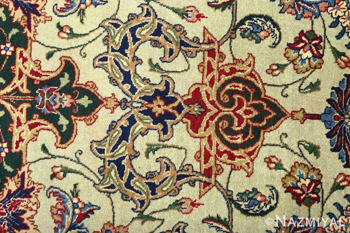 green background vintage tabriz persian rug 51109 design Nazmiyal
