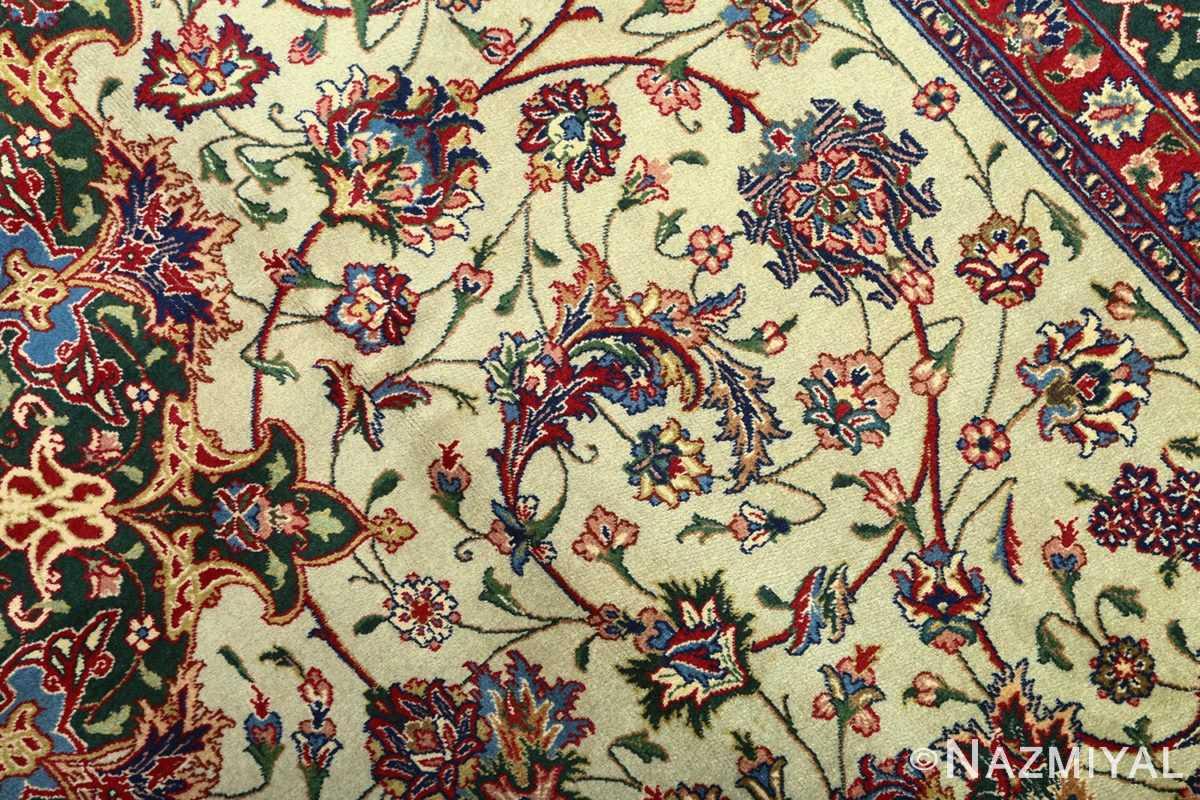 green background vintage tabriz persian rug 51109 field Nazmiyal