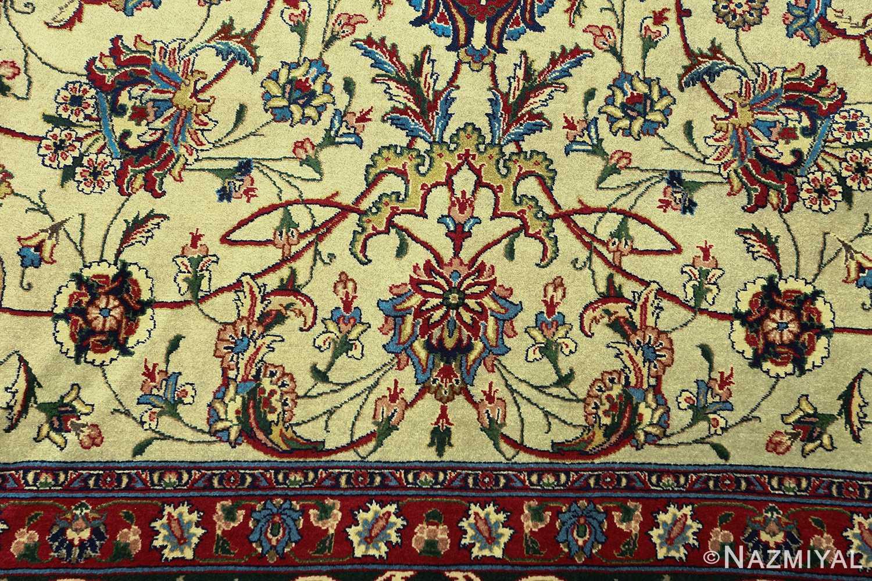 green background vintage tabriz persian rug 51109 flowers Nazmiyal