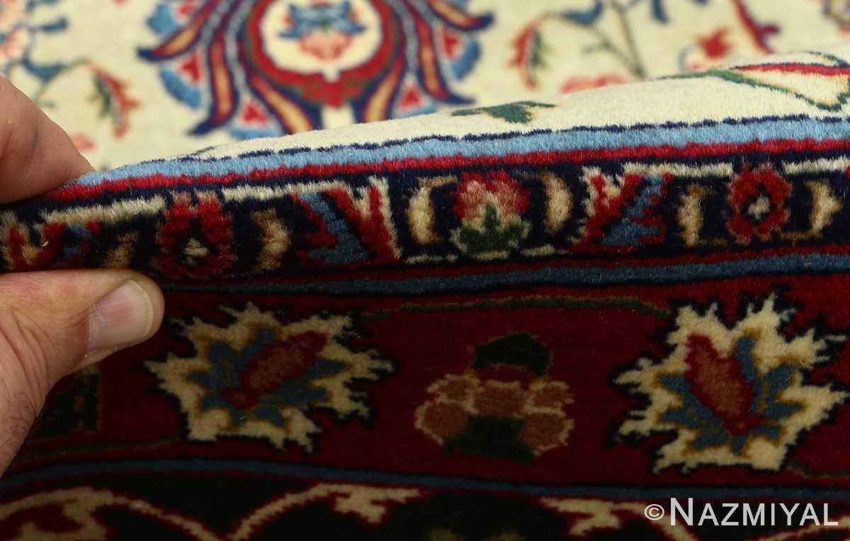 green background vintage tabriz persian rug 51109 pile Nazmiyal
