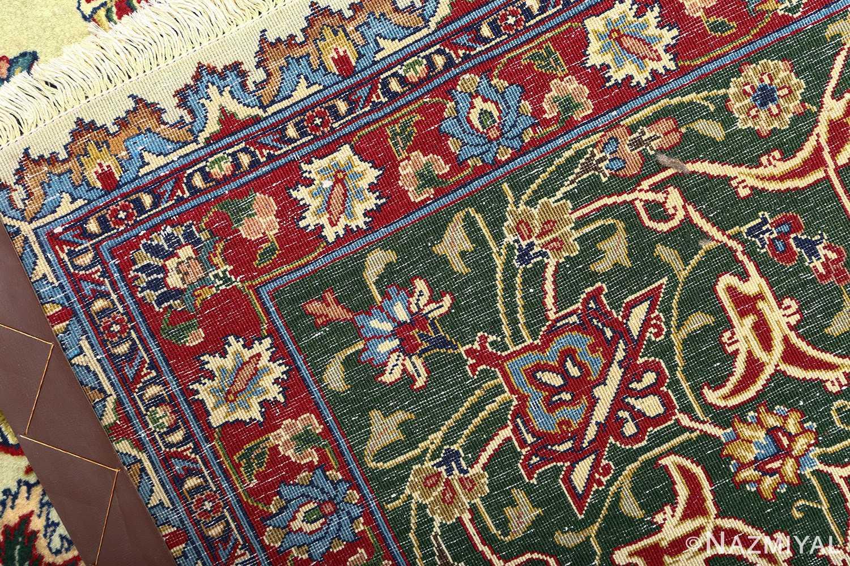 green background vintage tabriz persian rug 51109 weave Nazmiyal