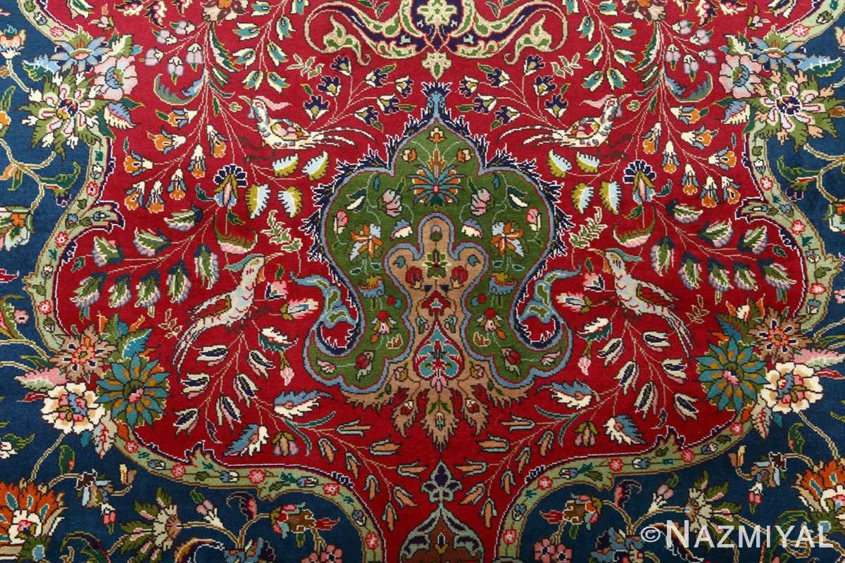 large vintage tabriz persian rug 51081 birds Nazmiyal