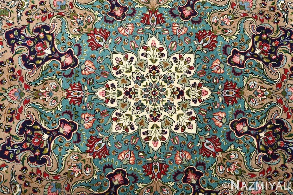 large vintage tabriz persian rug 51081 center Nazmiyal