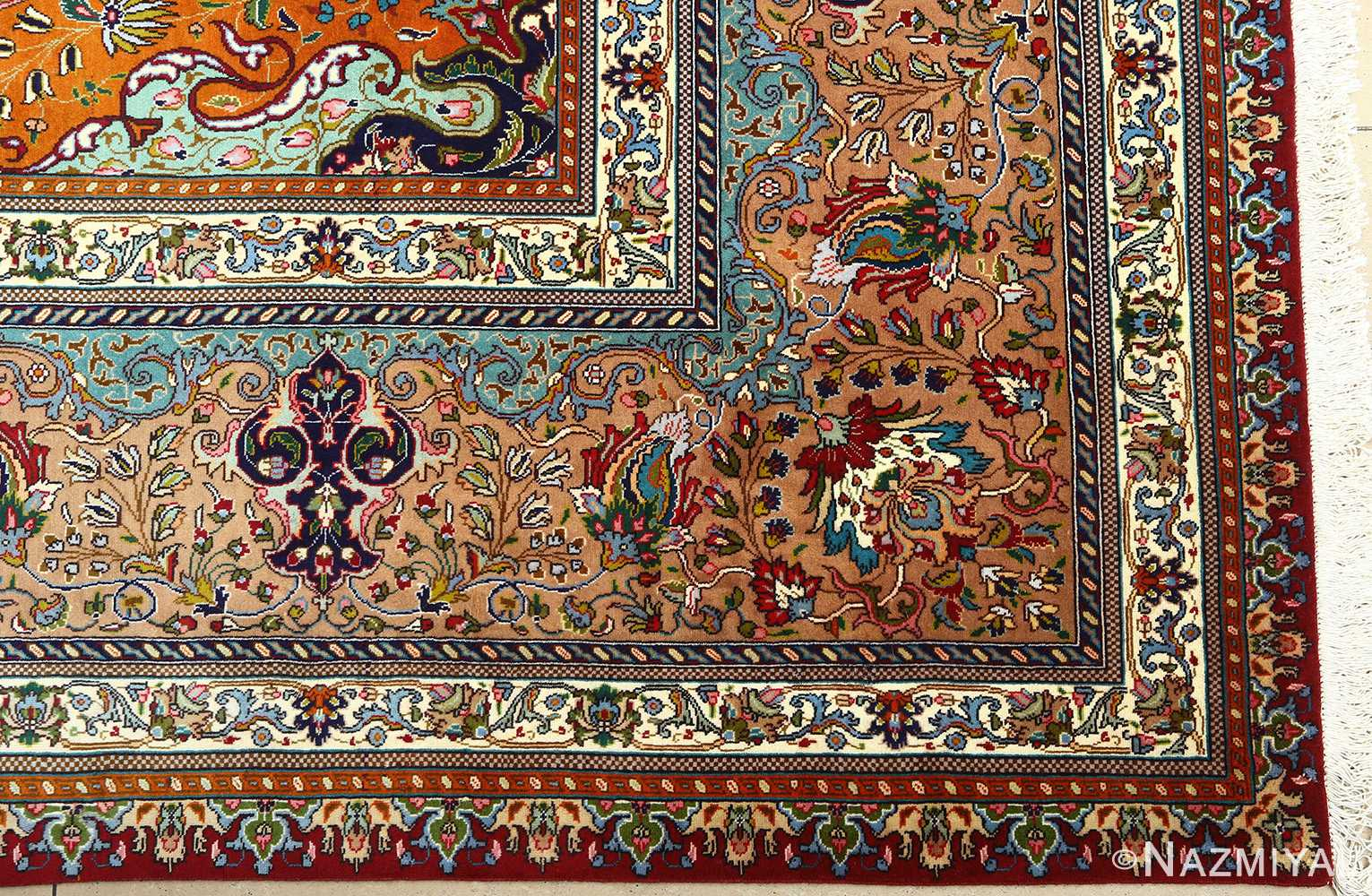 large vintage tabriz persian rug 51081 corner Nazmiyal