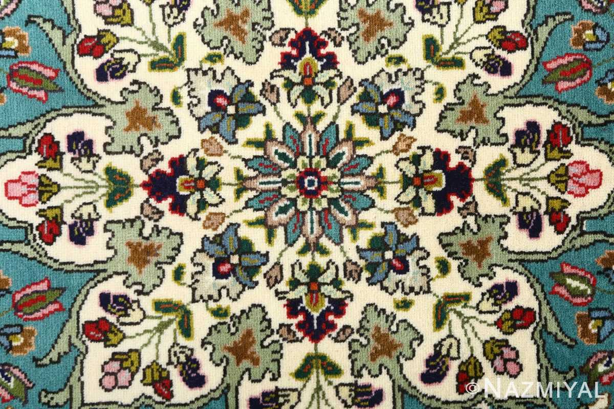 large vintage tabriz persian rug 51081 flowers Nazmiyal
