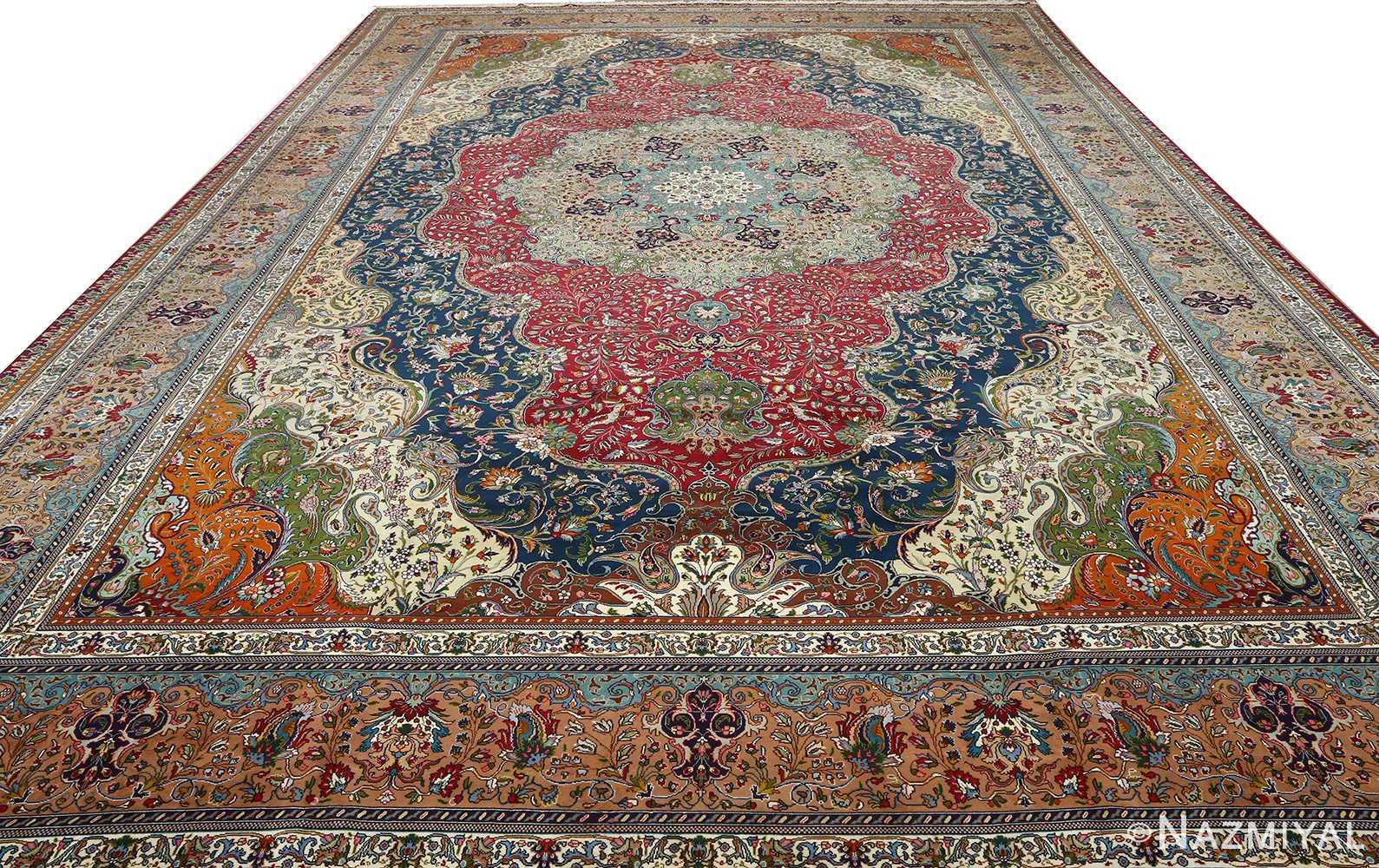large vintage tabriz persian rug 51081 full Nazmiyal
