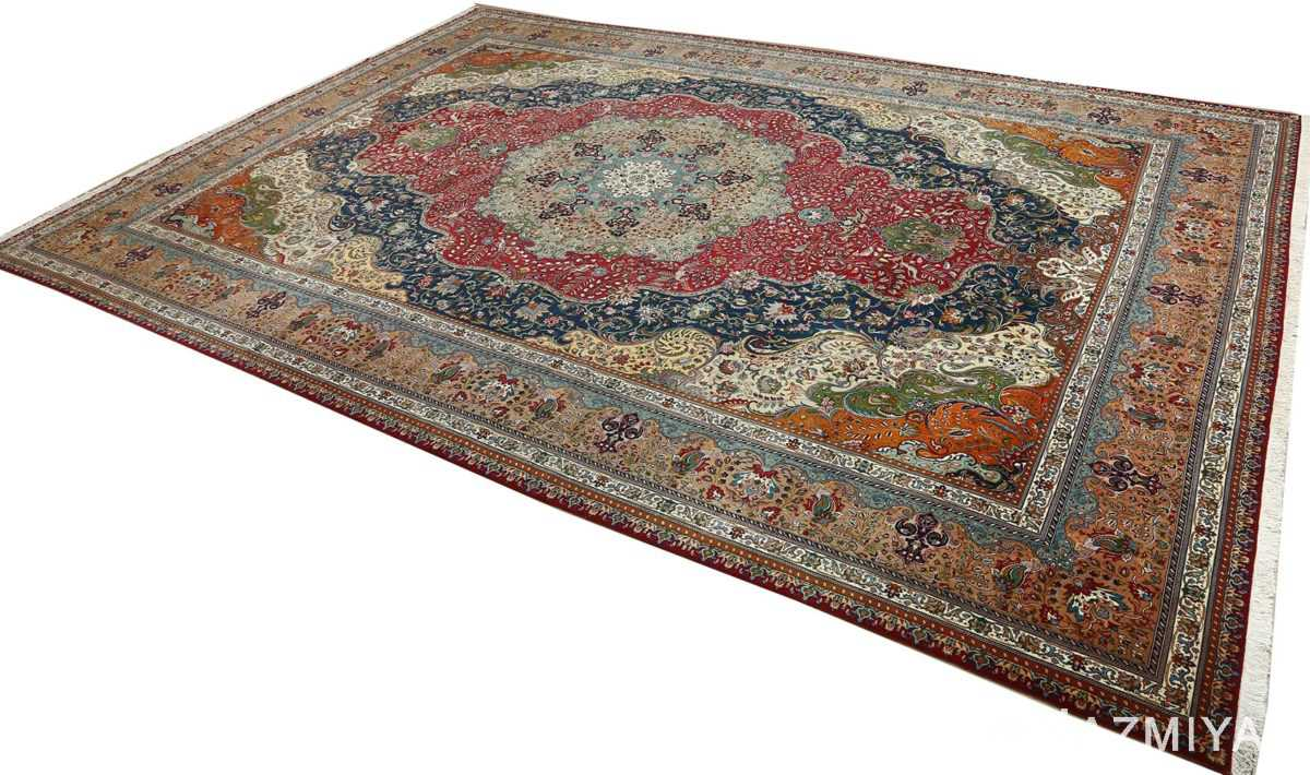 large vintage tabriz persian rug 51081 side Nazmiyal
