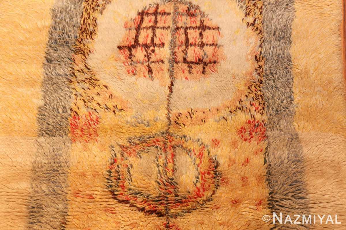 leen kaisa designed vintage rya scandinavian rug 49261 center Nazmiyal