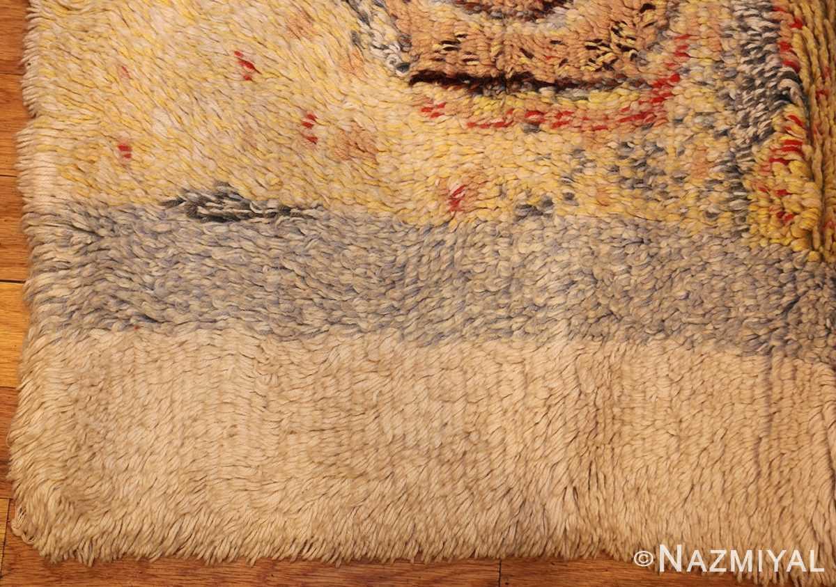 leen kaisa designed vintage rya scandinavian rug 49261 corner Nazmiyal
