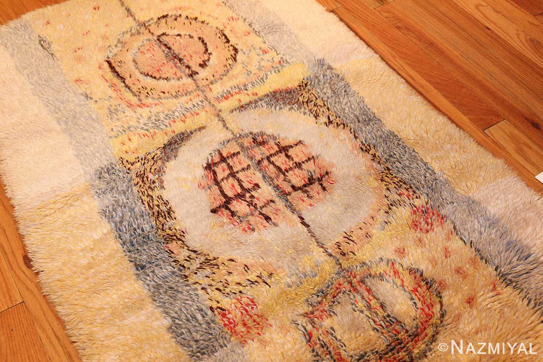 leen kaisa designed vintage rya scandinavian rug 49261 side Nazmiyal