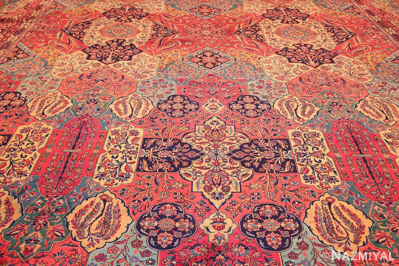 oversized antique kashan persian rug 49231 field Nazmiyal