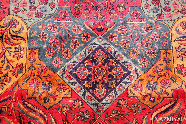oversized antique kashan persian rug 49231 flower Nazmiyal