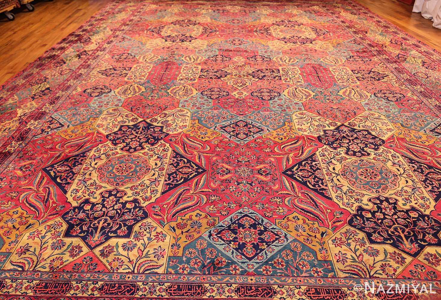 oversized antique kashan persian rug 49231 full Nazmiyal